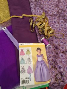 Simplicity 2463 Childs occasion dress
