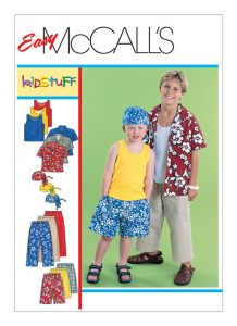 McCalls sewing pattern boys shorts 6099